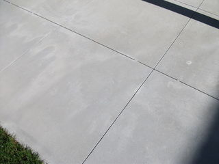 Concrete Tile Patio - Close Up