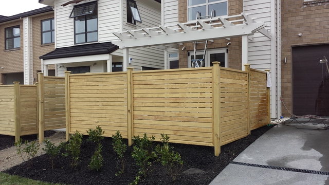 Dressed Horizontal Framed Fence