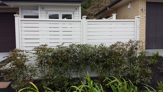 Painted Dressed Horizontal Fence Please Note We Do Not