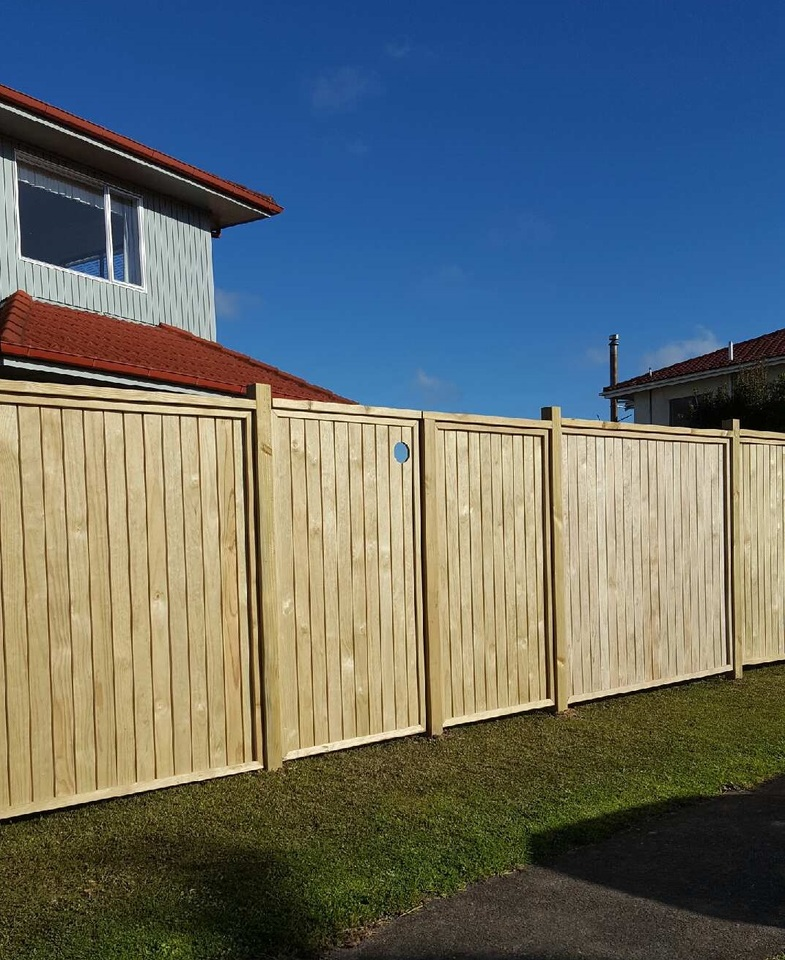 Dressed Vertical Panel Fence